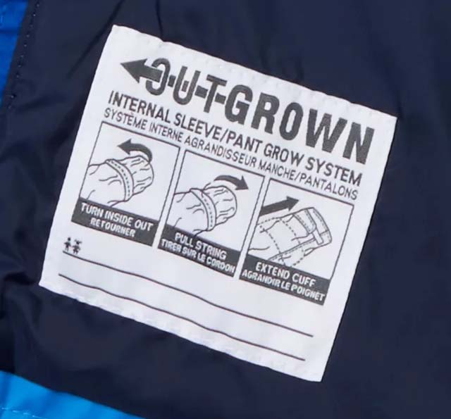 Columbia Outgrown extendable clothes for toddlers