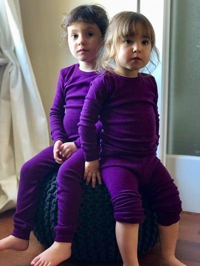 wool toddler pajamas for camping