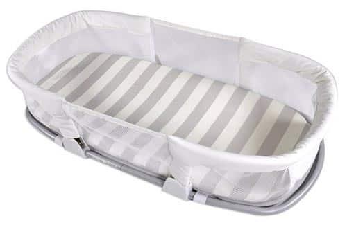 the SwaddleMe co-sleeping box