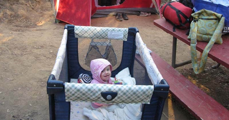 best baby camping beds