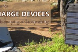 how to charge devices camping or backpacking