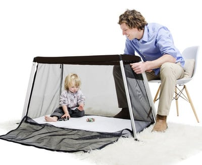 Phil and Ted camping crib