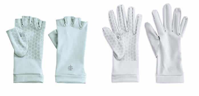 Coolibar UV sun gloves