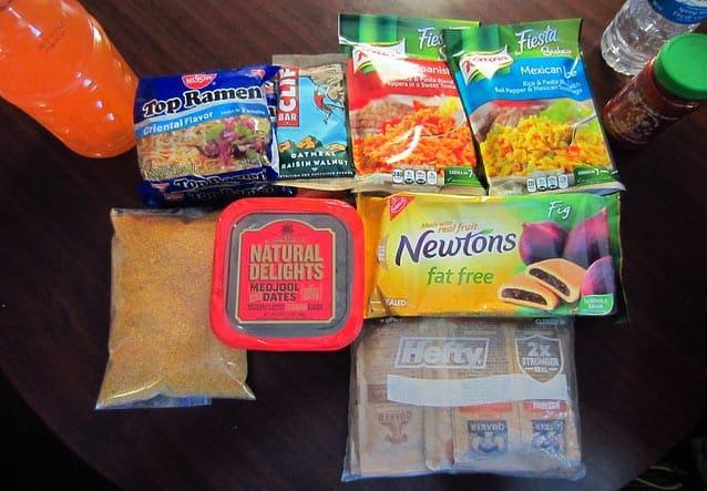 supermarket backpacking food