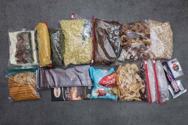 vegan backpacking food for 3 days