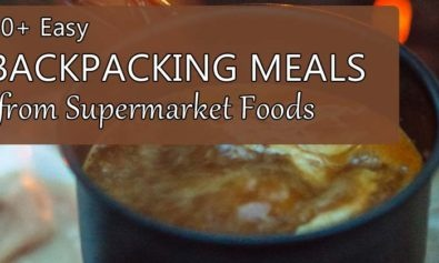 backpacking meals from supermarket foods