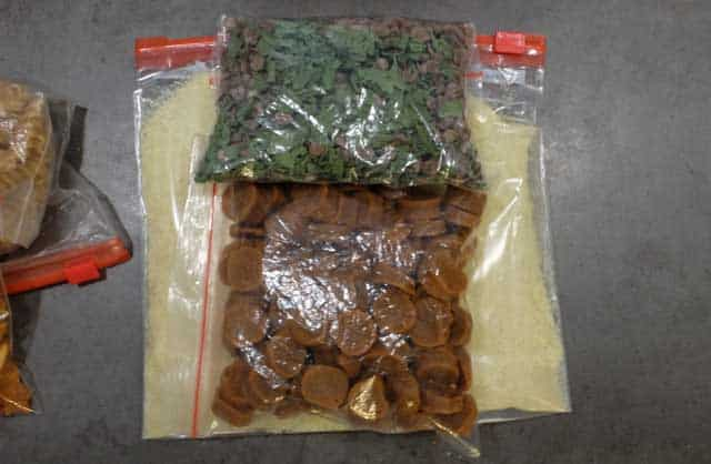 dehydrated backpacking meal in baggies