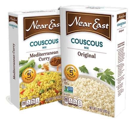 vegan couscous meal