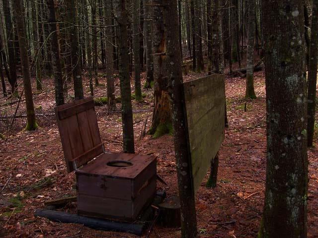 Open Outhouse at Boreas Brook Campsite