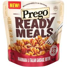Prego Ready Meals for backpacking