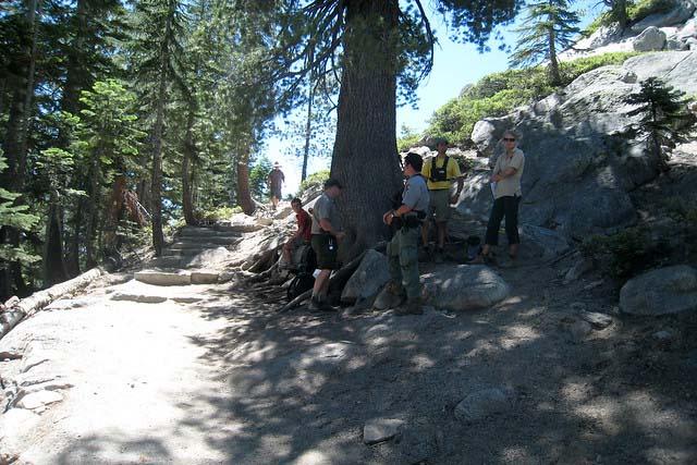 rangers checking permits