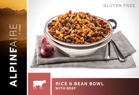 alpineaire rice beans beef bowl