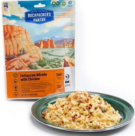 backpackers pantry Fettucini alfredo with chicken