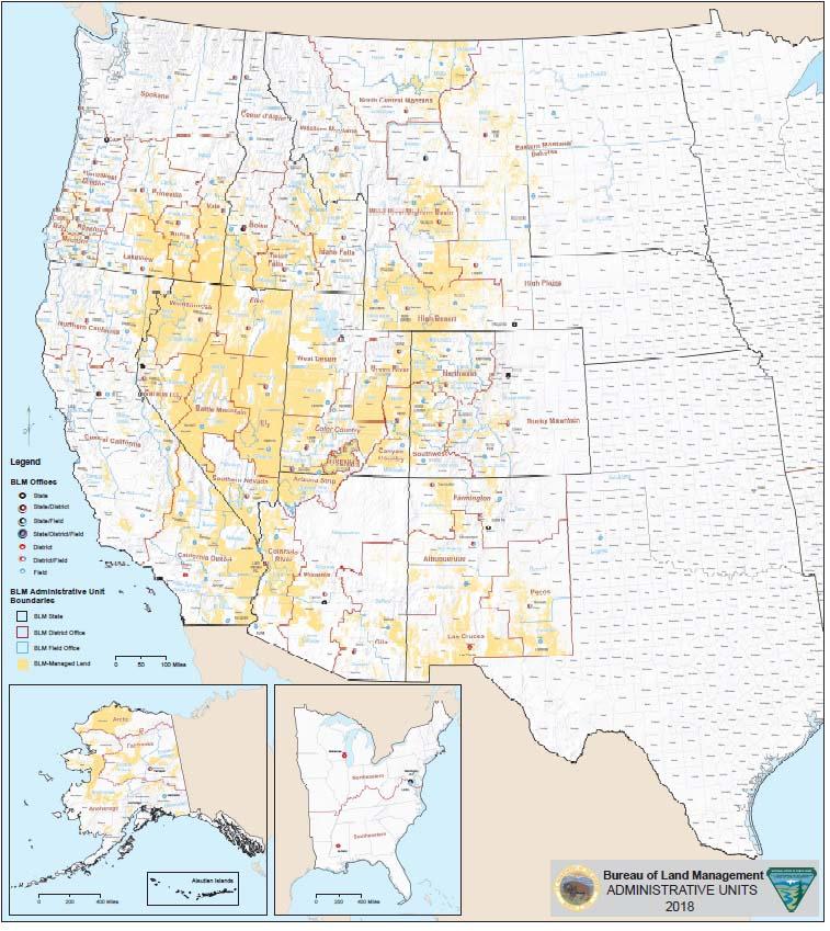 BLM public land map