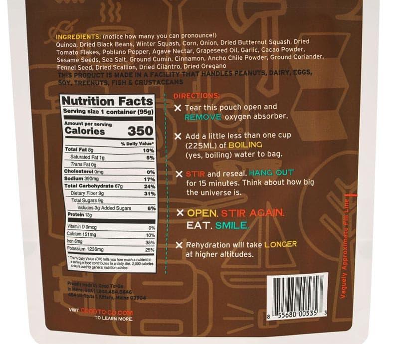 good to go mexican quinoa bowl nutrition
