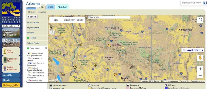 public lands map
