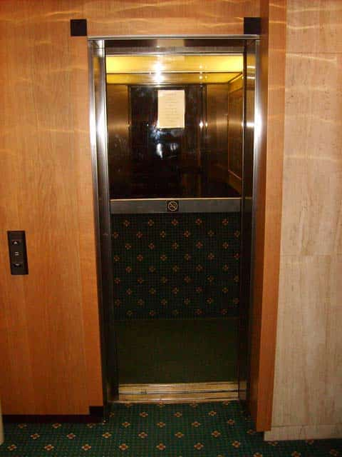 tiny elevator not stroller accessible