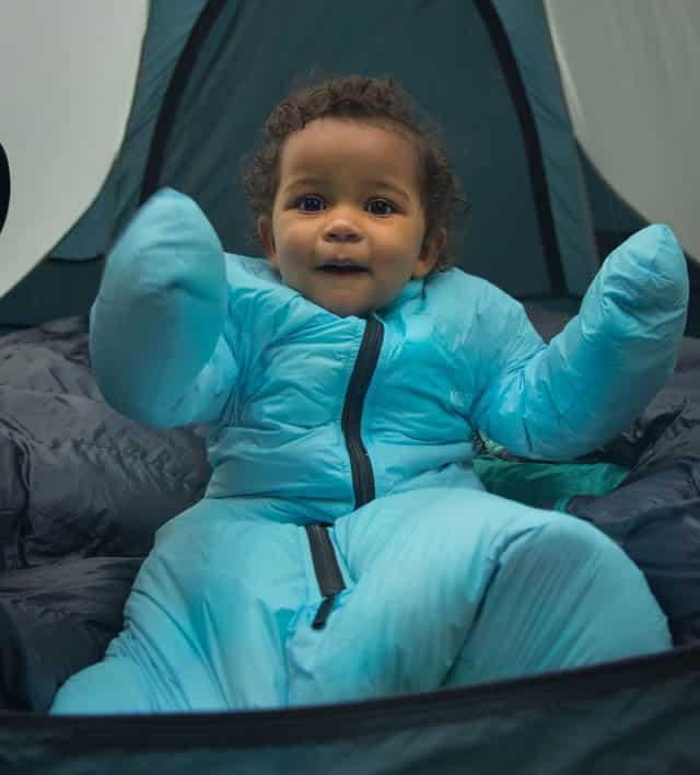 baby in Morrison sleeping bag