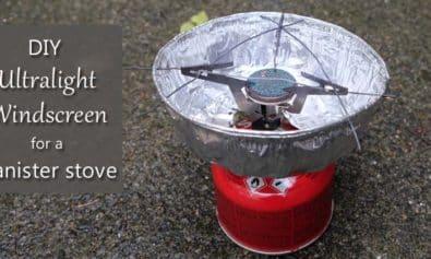 diy ul windscreen canister stove