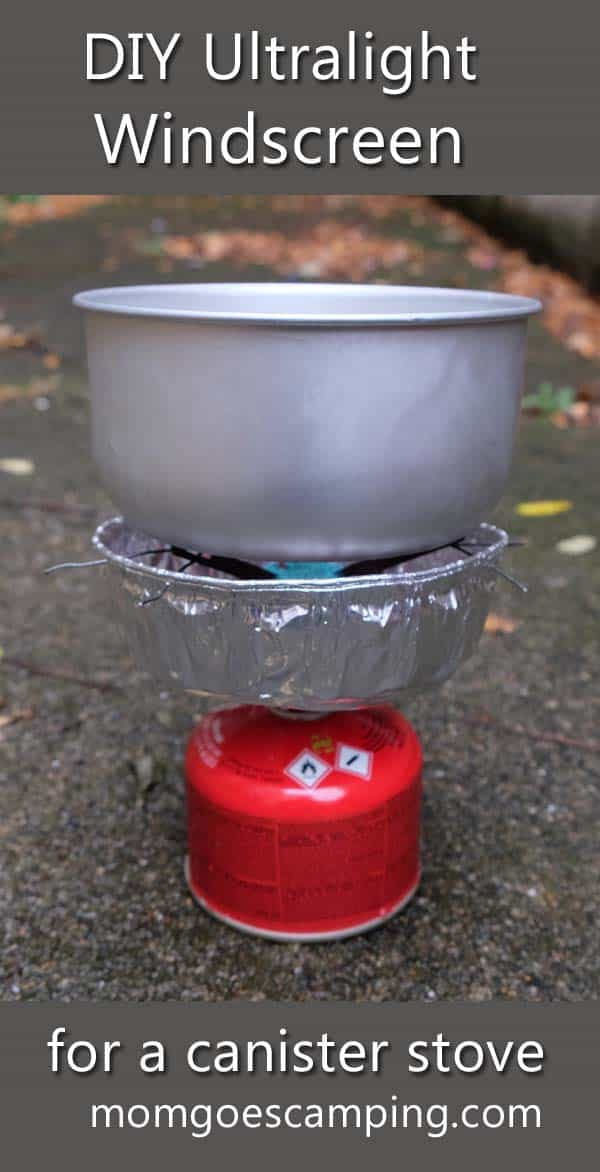 DIY ultralight windscreen for canister stove
