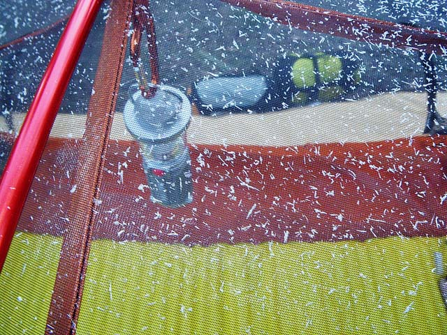 condensation in tent in winter