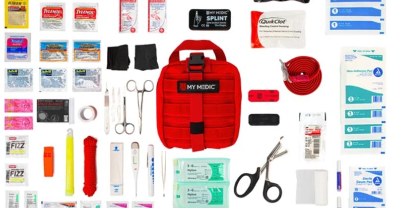 Medical First Aid Kit with a Professional Combat Tourniquet Perfect for Camping