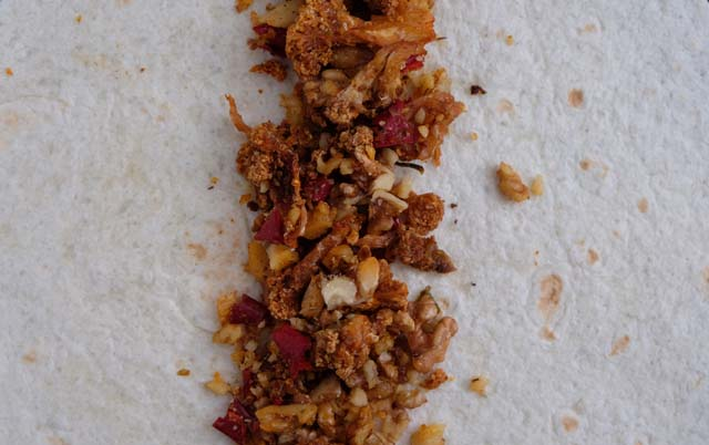 backpacking dehydrator recipe cauliflower walnut taco meat