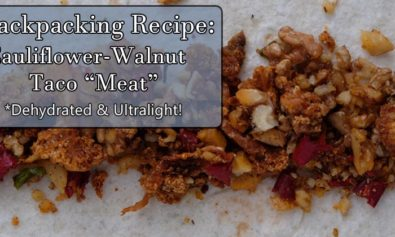 cauliflower taco meat dehydrator backpacking recipe