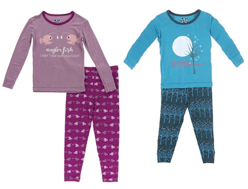 kickee bamboo pajamas for camping