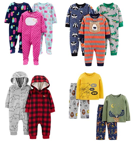 simple joys fleece pajamas by carters for camping