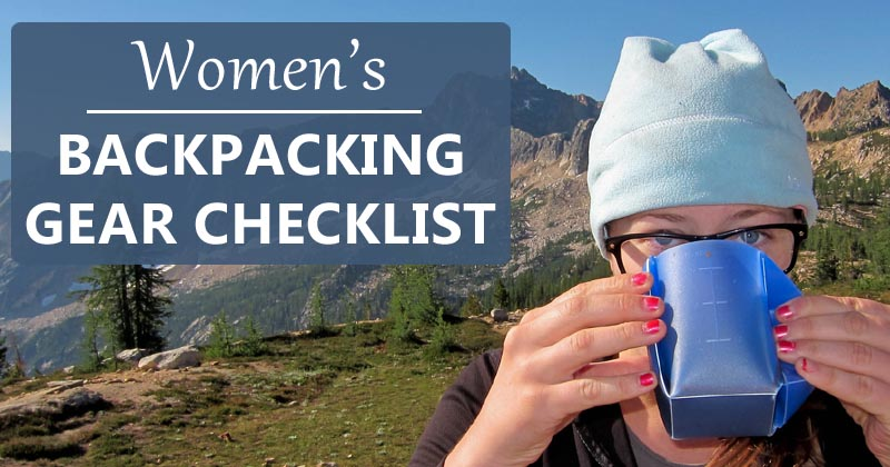 women's backpacking checklist
