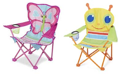 melissa and doug kids camping chairs