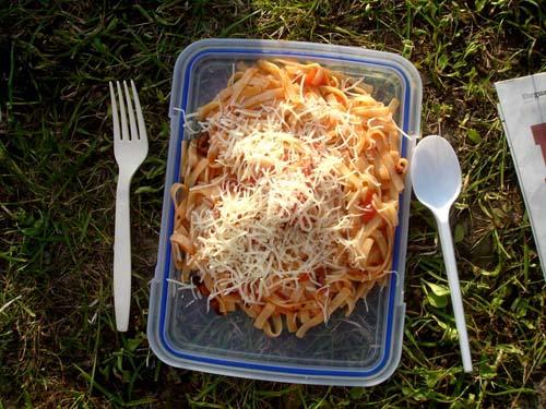 camping pasta