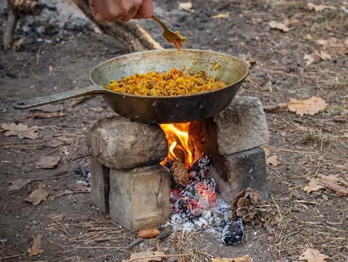 camping pilaf