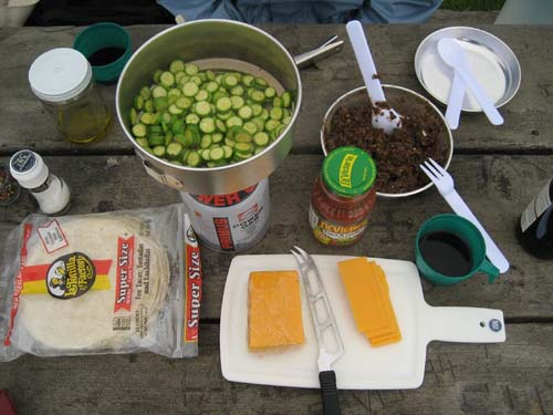 camping tortillas