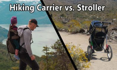 hiking stroller versus hiking carrier