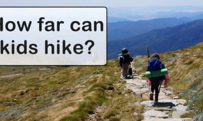 how far can kids hike