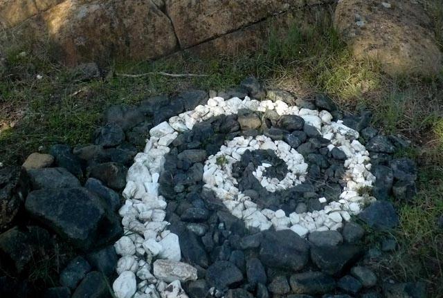 rock art installation camping activity