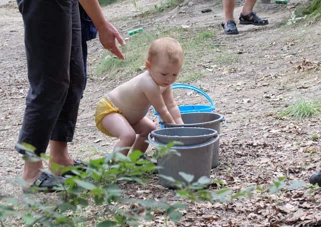 bucket games camping