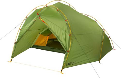 Exped tent with external poles