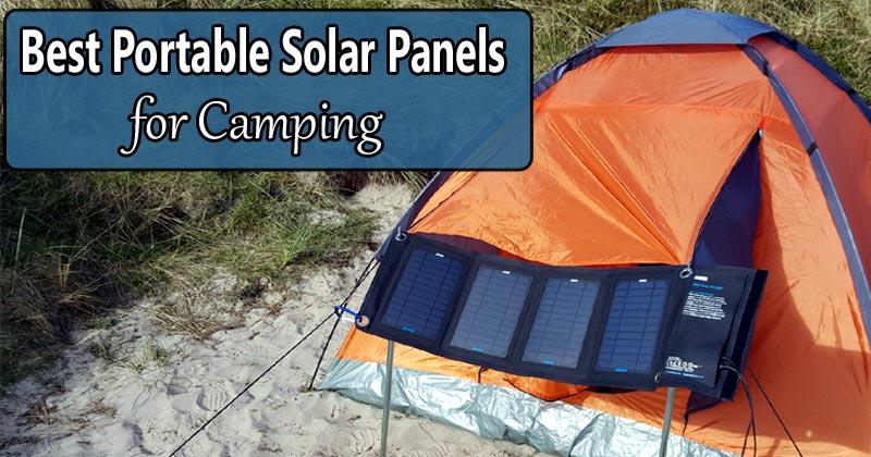 best portable solar panels camping