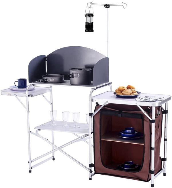 CampLand folding camping kitchen with cabinet