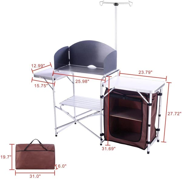 Campland camp kitchen dimensions
