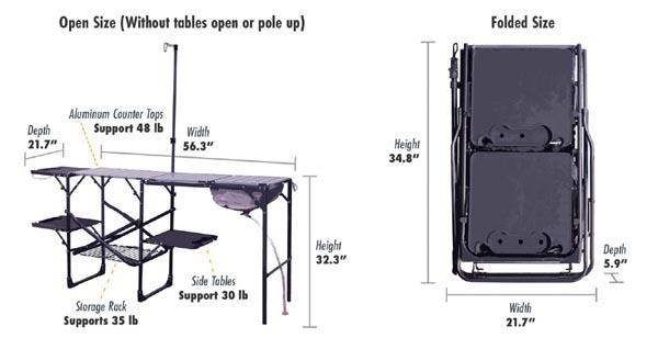 GCI Outdoor Master camp kitchen dimensions