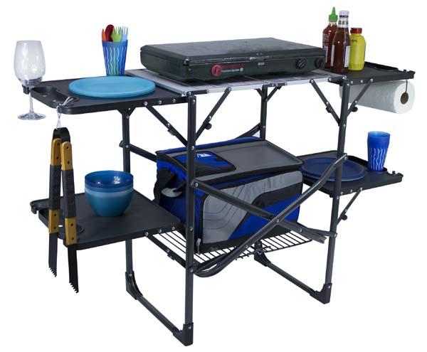 GCI Slim Fold camping kitchen station