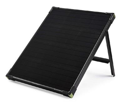 Goal Zero Boulder briefcase solar panels for camping