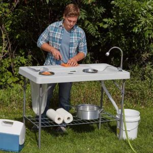 kotula camping table with sink