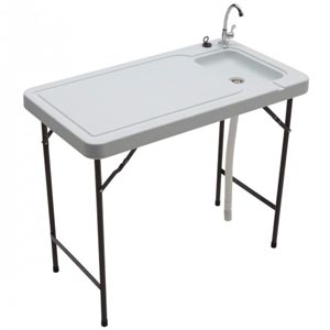 Tricam table with sink
