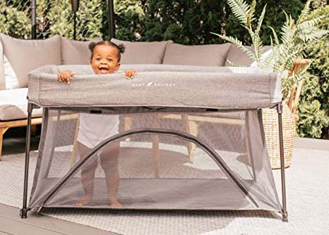 baby delight nod deluxe portable crib for camping