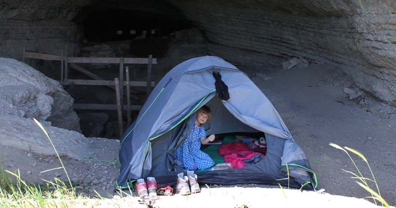 tent camping with kids